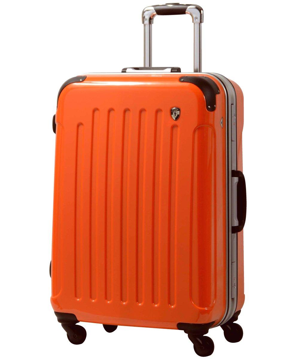 [グリフィンランド]_Griffinland TSAロック搭載 スーツケース 軽量 アルミフレーム ミラー加工 newPC7000 フレーム開閉式 B078JK816C SS(機内持込)型+【名前刻印】|マンダリンオレンジ マンダリンオレンジ SS(機内持込)型+【名前刻印】