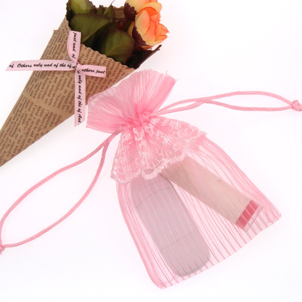 Amazon.com: SumDirect 20Pcs 4x6 Inches Pink Lace Organza Gift Bags ...