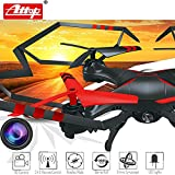 Premium Top Flyer Remote Control Drone RC Quadcopter w HD Camera, 2.4GHz 4-Channel w Gyroscope, 360 Degrees Flips, Multi Flying Directions, Long flight distance and time, Light Weight, YD-drone-A25C
