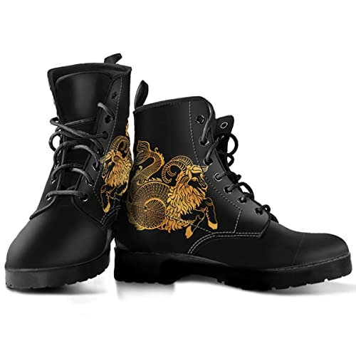 1cca1429e Capricorn Zodiac Lace-up Leather Boots for Men and Women - Capricorn Lover  Gift (