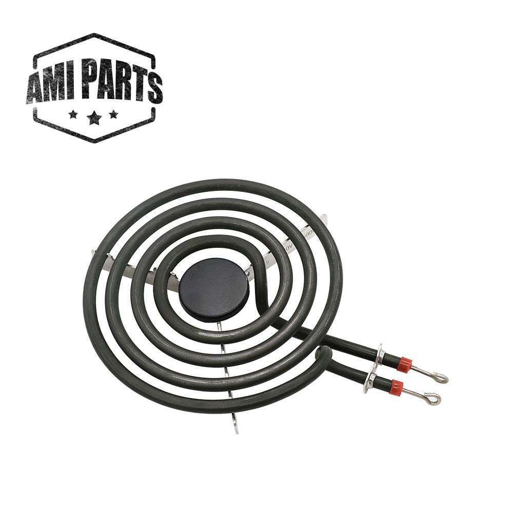 "660532 MP15YA 1500W 4 Coil Electric Range Burner Element Unit 6"" Compatible with Whirlpool Maytag Replacement Part by AMI - Replaces 316439801 77001106 ERS46Y15 AP4502986"
