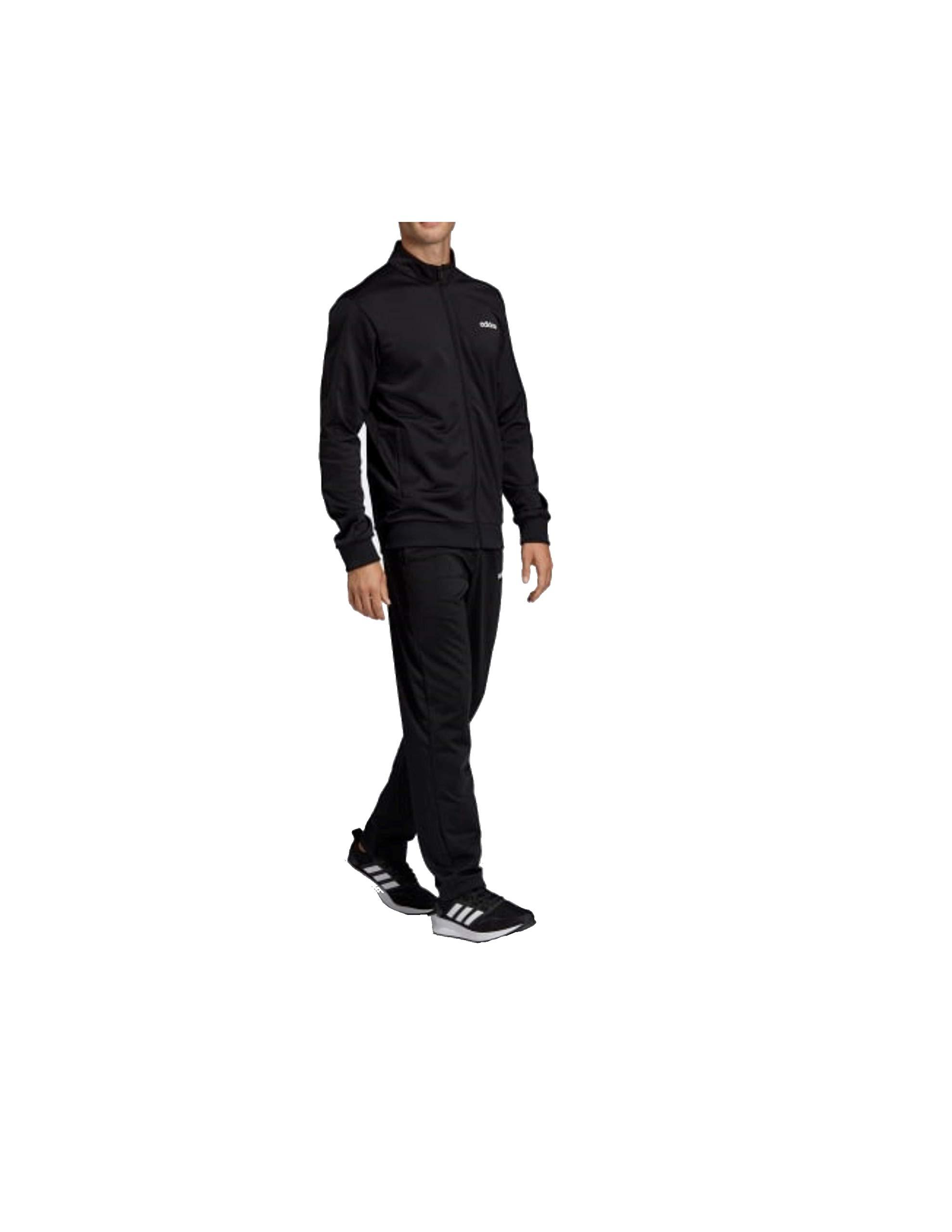 adidas Men Training Basics Track Suit (MTS) Size XL Black by adidas