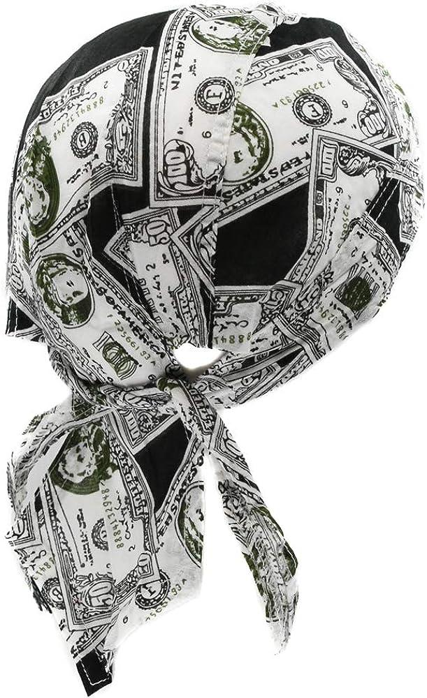 topt rasta bandana dollar monnaie billet rap rnb biker homme femme serre tete