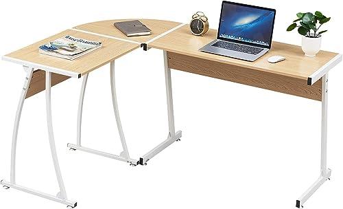 Smylife Modern L-Shaped Corner Desk Computer Gaming Desk Table