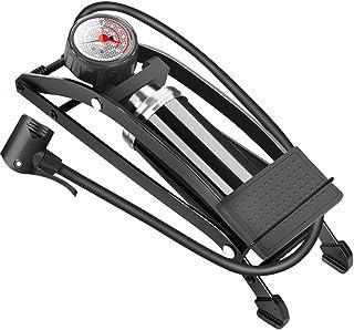 QZY Auto Pompa a Pedale, Pompa Portatile con ManOmetro per Mountain Bike Moto ad Alta Pressione Dispositivo Gonfiabile-160 psi,MonoTube