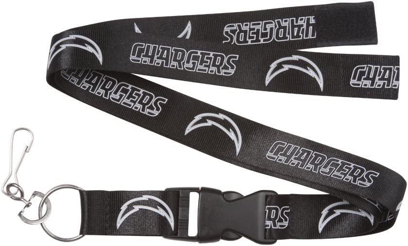 PSG NFL Team Blackout Lanyard with Detachable Clip//Key Ring