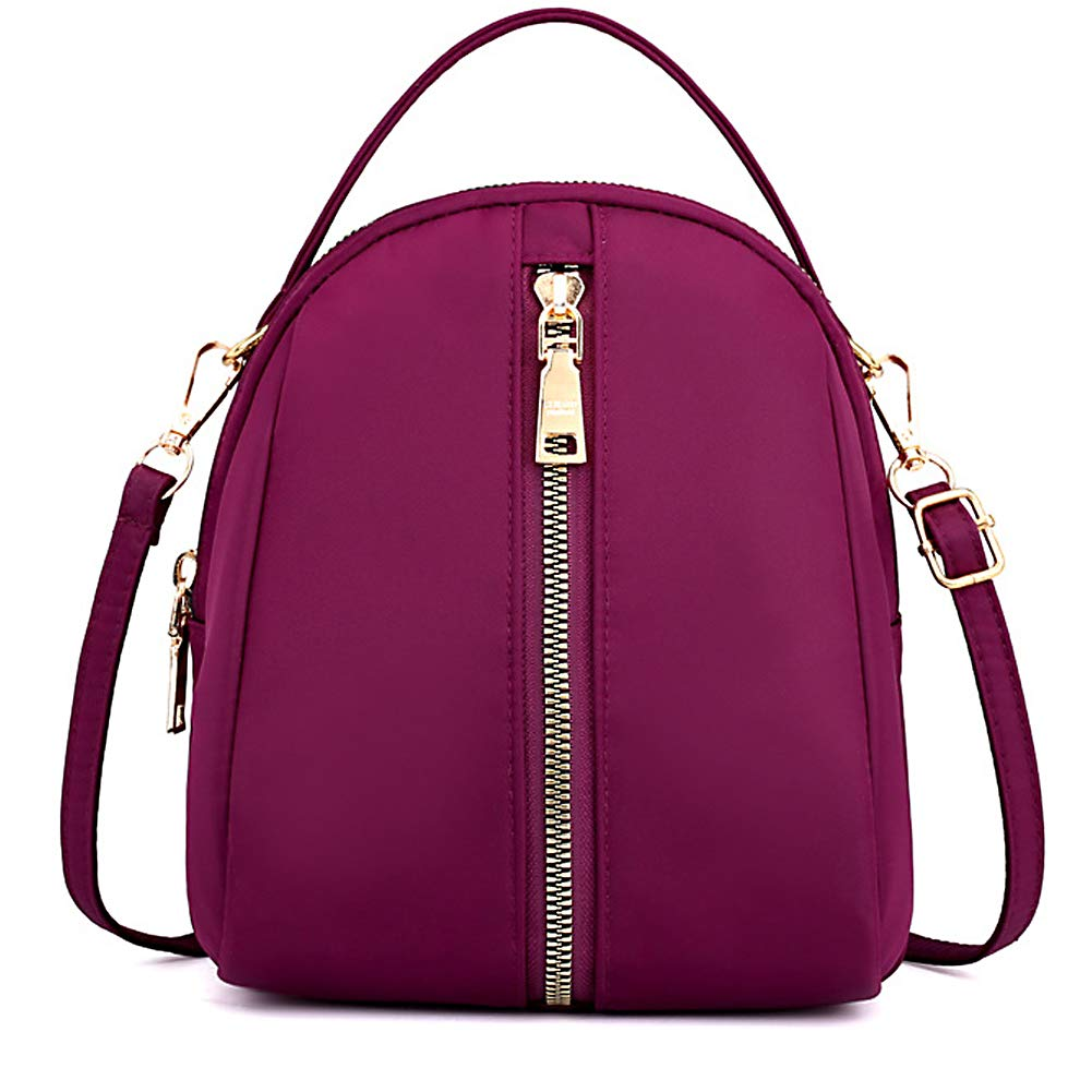 0721purple ZOCAI Mini Backpack Purse Congreenible Crossbody Shoulder Bag with Adjustable Straps for Women and Girls