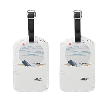 Natax中華風 古典 スーツケース旅行荷物タグ ラゲージタグ スーツケース タグ 名札 ネームタグ