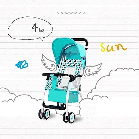 Opinión sobre Cochecito de bebé, Paraguas reclinable de Paisaje Alto, Amortiguador Compacto de Cuatro Ruedas para niños
