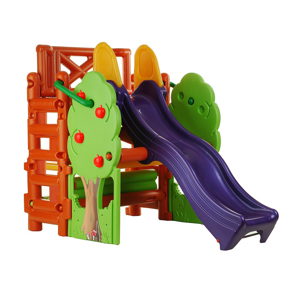 Amazon.com: ECR4Kids Tree Top Climb and Slide Play Structure ...
