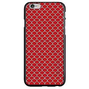 "CUSTOM Black Spigen ThinFit Case for Apple iPhone 6 (4.7"" Model) - Red White Scalloped Pattern"