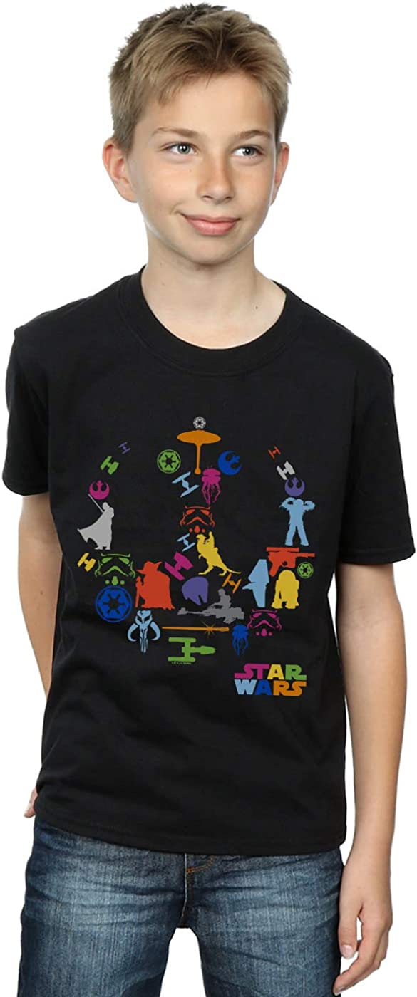 Star Wars Boys Silhouette Collage T-Shirt