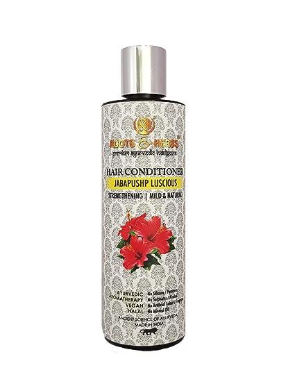 Roots & Herbs Ayurvedic Natural Treatment 100% Vegan No Paraben Jabapushp  Lucious Hair Conditioner for Men and Women - 200 ml