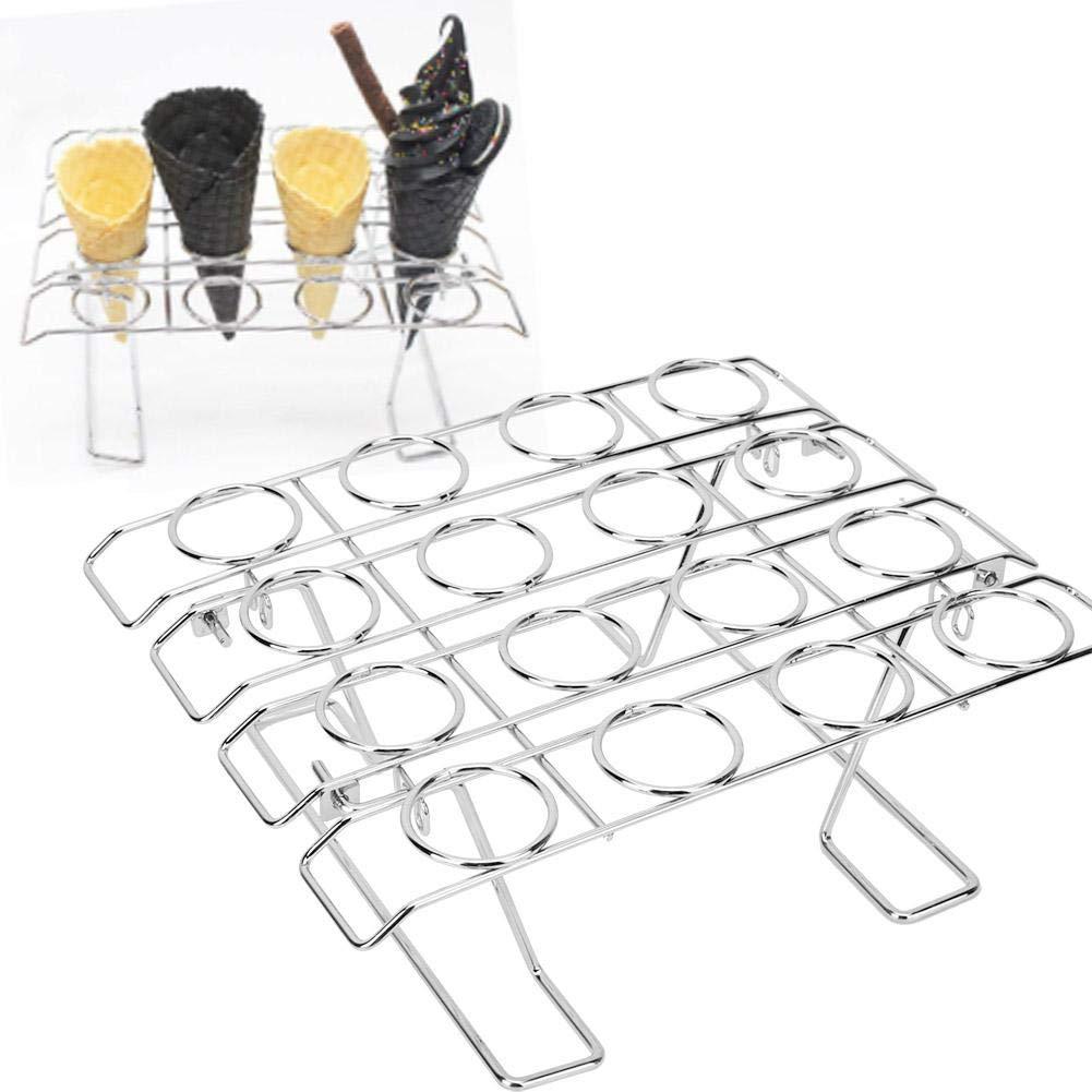 16 Slots Folding Ice Cream Display Cooling Rack Holder for Baking Cake Cupcake