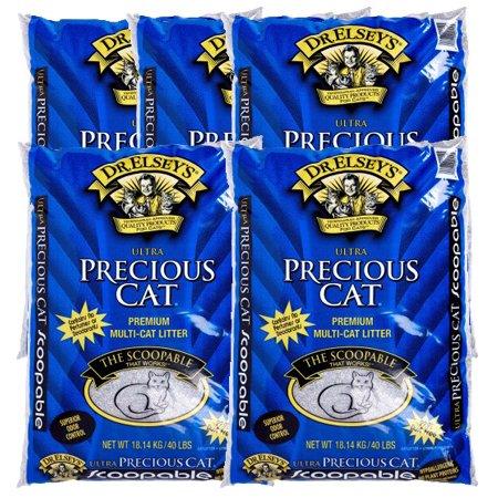 Litter 40lb Clumping Bag Cat (5 Pack Precious Cat Ultra Premium Clumping Cat Litter 40 Pound Bag)