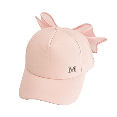 4URNEED Bow-Knot Form Women Girl Sun-Hats Outdoor Caps Hat Basecap Baseball Cap Adjustable
