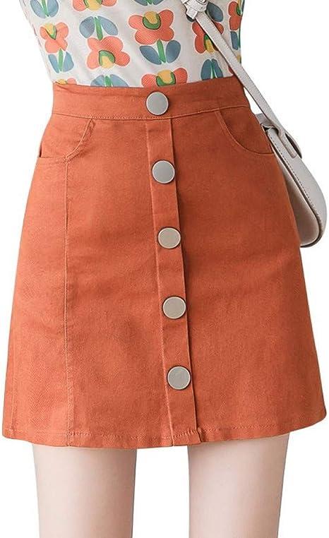 DAHDXD Faldas Cortas de Mezclilla para Mujer para Mujer Minifalda ...