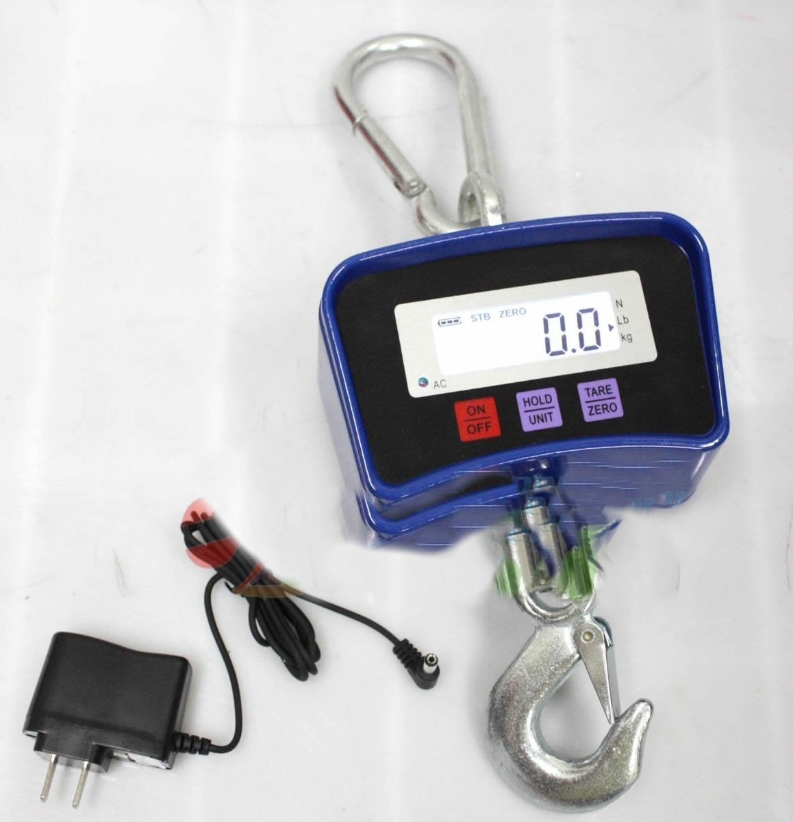 Wanlecy 1000KG 2000LBS Digital Crane Scale Industrial 1T Heavy Duty Hanging Scale High Precision LED Display with Remote
