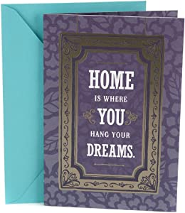 Hallmark Housewarming Card (Home is Where You Hang Your Dreams), Lettering in Frame - 0399RZB1279