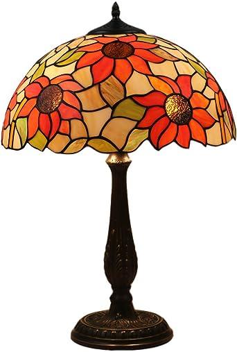 FABAKIRA Lámpara Tiffany de Mesa 16 Pulgadas Vintage Pastoral ...