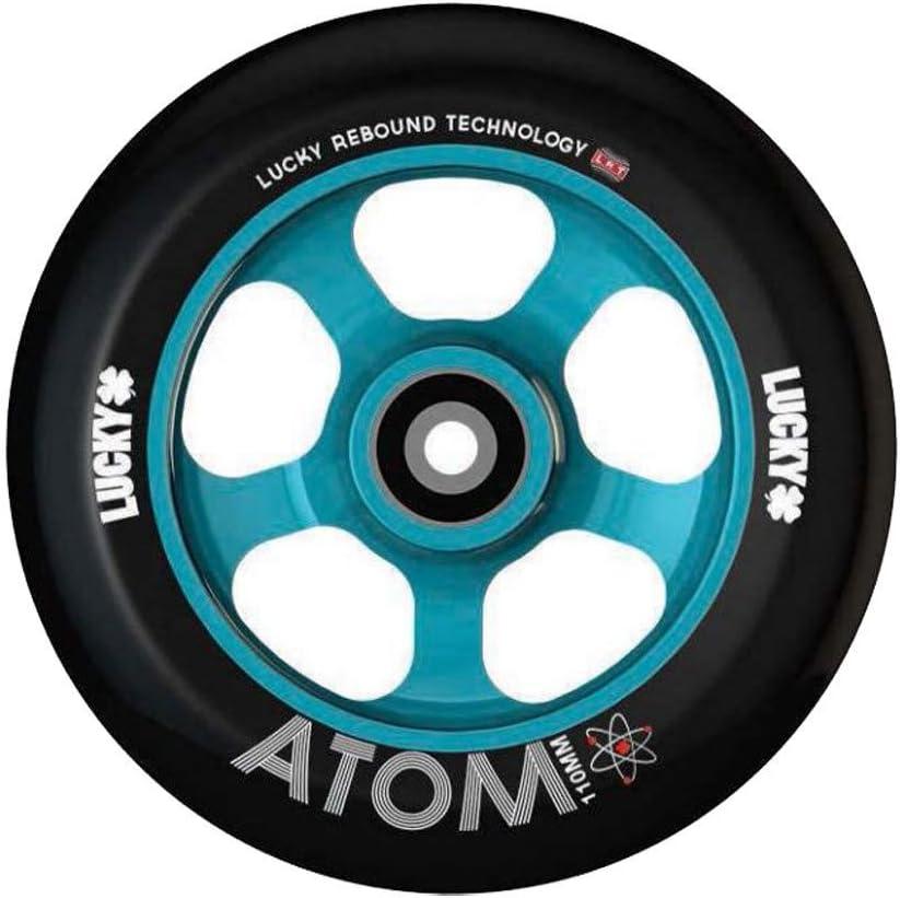 Luckyスクーターホイール110 mm Atomティール/ブラックシングルホイールwith軸受