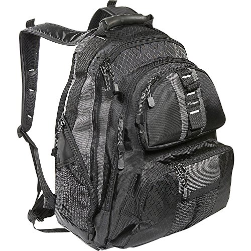 Targus Sport Backpack for 15.4-Inch Laptops, Black with Gray