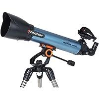 Celestron Inspire 100AZ Refractor Smartphone Adapter Built-In Refracting Telescope, Blue (22403)