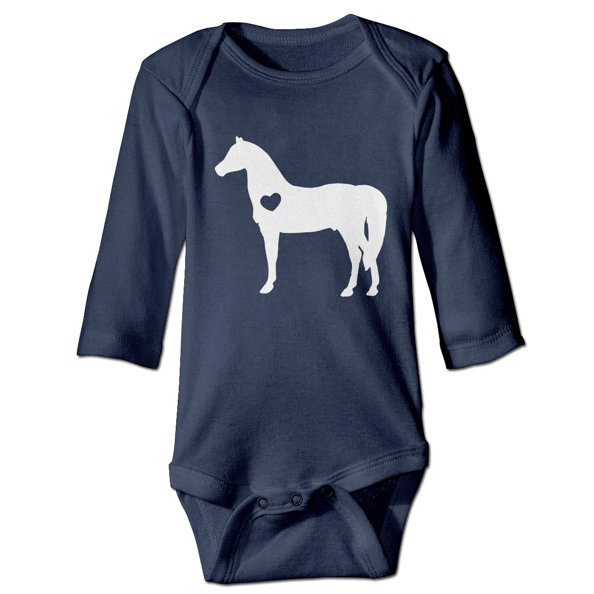 Baby Infant Toddler Long Sleeve Jumpsuit Romper Horse Riding Silhouette Print Jumpsuit