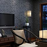 Peel and Stick Wallpaper - Self Adhesive - Removable 3d Waterproof Wall Decor, Large Size 1.47x16.5 Feet (Brick 02)