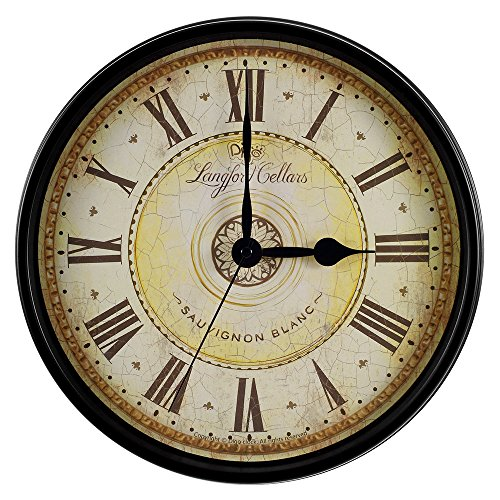 RELIAN 12-Inch Vintage European Style Decorative Silent Non-Ticking Battery Operated Round Wall Clock for Home Indoor Decor