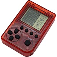 F Fityle Retro Mini Keychain Pendant Game Tetris Game Console, Birthday Christmas Gifts to Adults and Kids Light Red