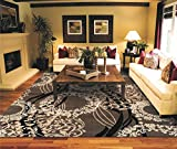 AS Quality Rugs Modern Brown Rugs for Living Room 8x10 Clearance