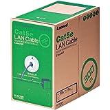 ELECOM RoHS対応LANケーブル CAT5E 300m パープル 簡易パッケージ LD-CT2/PU300/RS