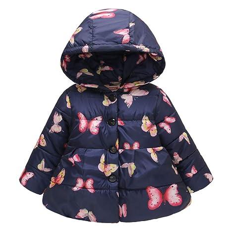 Niñas Chaqueta de Abajo Bebé Invierno Acolchado Abrigo de ...