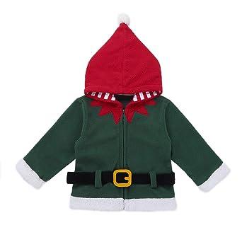 Amazon.com: dPois Baby Boys Girls Christmas Santa Claus Elf Fancy Hooded Sweatshirt Long Sleeve Winter Jacket Coat: Clothing