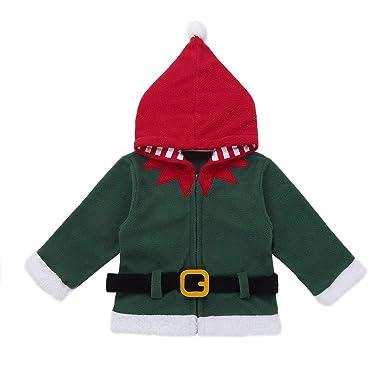 a7460b02f0b11 YiZYiF Noël Manteau à Capuche Bébé Enfant Garçon Fille Blouson Veste à  Manche Longue Cardigan Chaud