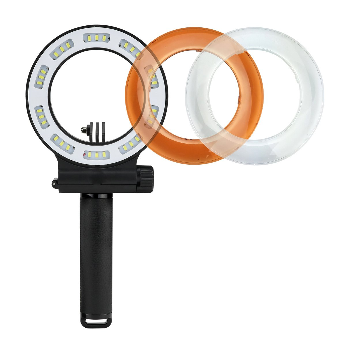 MEIKON LED Underwater Light, Waterproof 40m Diving Fill Light IPX8 Waterproof Flash Ring Light 3 Modes with 30pcs LED for GoPro Hero 6/5/4/3 /3/2/1 SJCAM and Other Action Camera (Rechargeable) by MEIKON