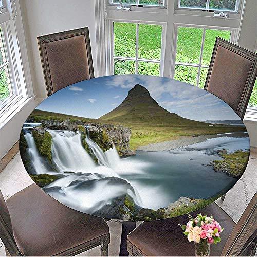 Mikihome Modern Table Cloth Kirkjufell Mountain on Snaefellsnes Peninsula in Iceland Kirkjufell Indoor or Outdoor Parties 40