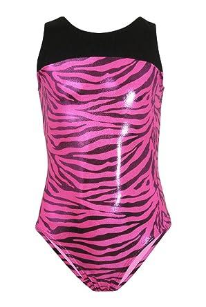 b907eb082 Amazon.com  SALE-k-Bee Leotards Baby Zebra Pink Gymnastics Leotard ...