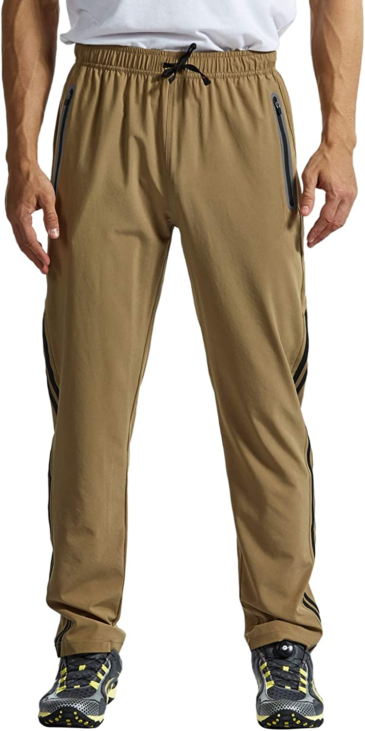 Rdruko Mens Hiking Pants Lightweight Quick Dry Stretch Climbing Travel Pants with Pockets