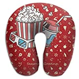 Popcorn And Coke For The Movie Pattern Super Comfortable U Type Pillow Neck Pillow Relex Pillow Travel Pillow With Resilient Material