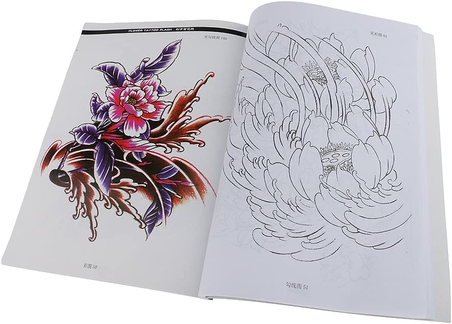 New Fashion Women Lady Body Art Tattoo Sketch Reference Book Flowers Style Amazon Ca Health Personal Care