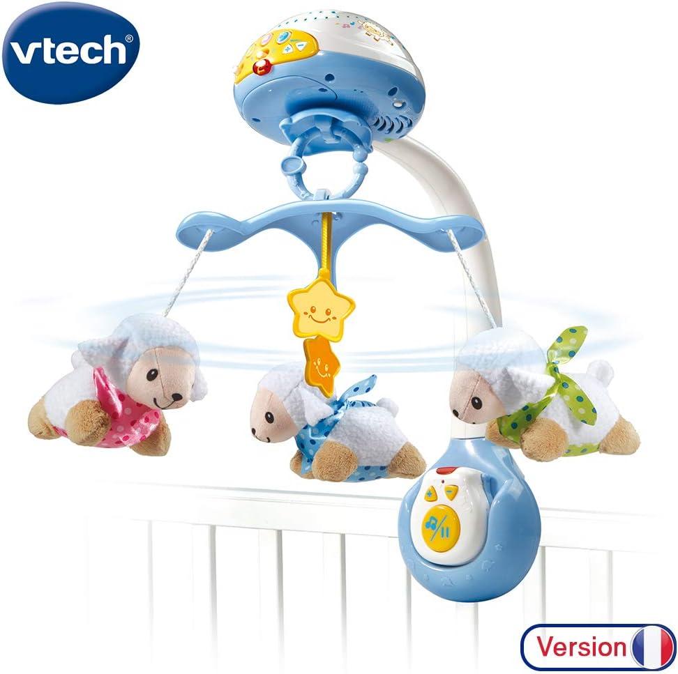 VTech Lumi Mobile Compte-moutons Sonoro - Móvil para cuna (Azul ...