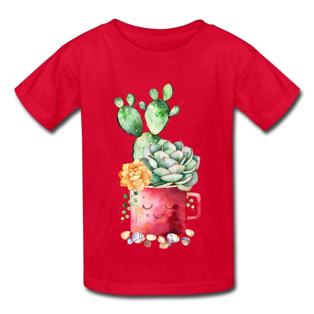 Moniery Short Sleeve T Shirts Green Cactus in Cup Baby Girl Infant