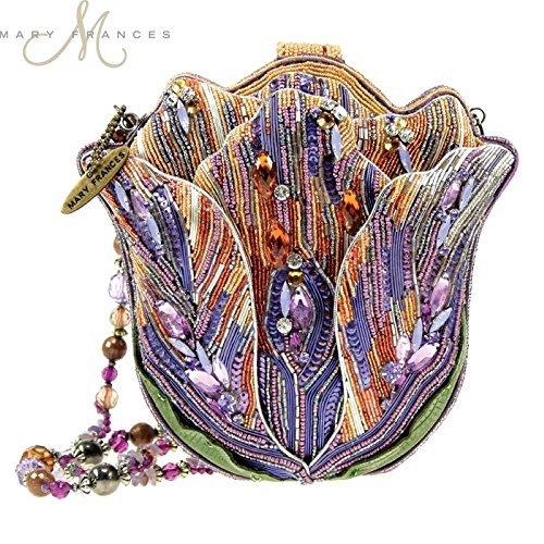 Tulip Purse - Mary Frances Tempting Tulip Flower Extensively Hand Beaded Bejeweled Handbag Shoulder Bag