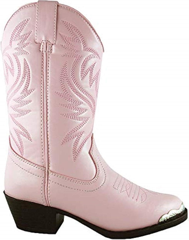 Pink Western Cowboy Boot Smoky Children/'s Kid/'s Lt