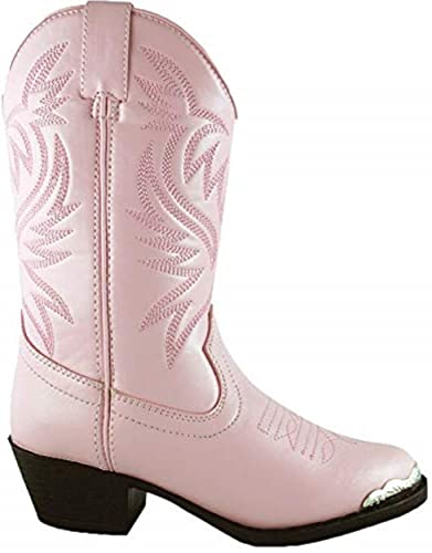 0622684211c Smoky Mountain Boots Toddler Girls Mesquite Pink Faux Leather Western 8 D