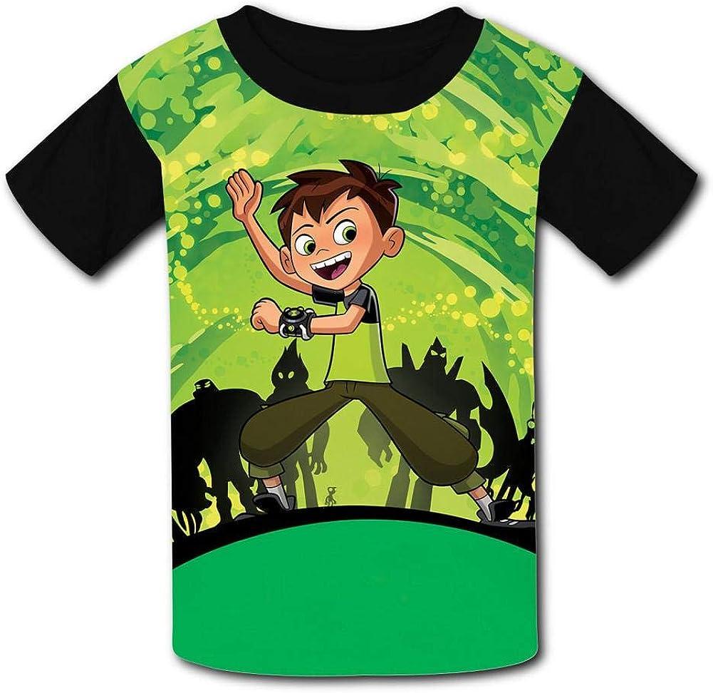Green Water Ben-10 Kids T-Shirts Short Sleeve Tees Summer Tops for Youth//Boys//Girls