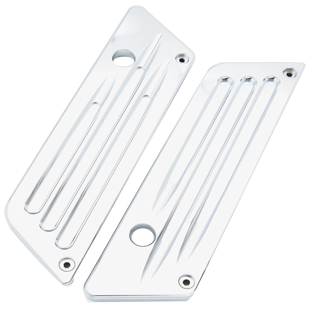 Chrome Aluminium CNC Machined Deep Cut Latch Covers For Harley Touring Saddlebag Hard Bag 1993-2013