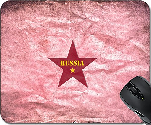 MSD Natural Rubber Mouse Pad Mouse Pads/Mat design 23773946 Vintage paper with a Russian red star